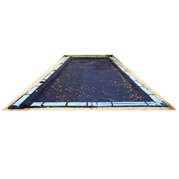 Blue Wave Rectangular Leaf Net Ground Pool Cover