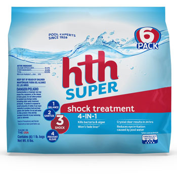 HTH Pool Shock Super Shock Treatment 6 count 6lbs