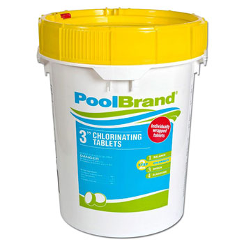 Pool Brand 3-Inch Swimming Pool Chlorine Tablets